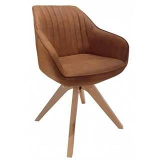 Jedálenská stolička Viborg, camel vintage látka%