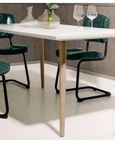 Jedálenský stôl Göteborg 160x90 cm, biela / dub sonoma%