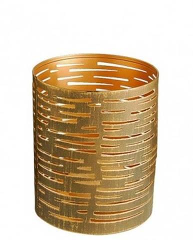 Kovový svietnik Tim, výška 10 cm, bronzový%