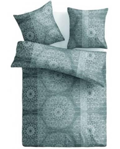 Obliečky Casa, mikroflanel, šedé/hnedé ornamenty%