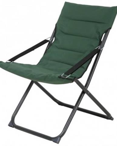 Skladacia záhradná stolička Bibione, tmavo zelená%