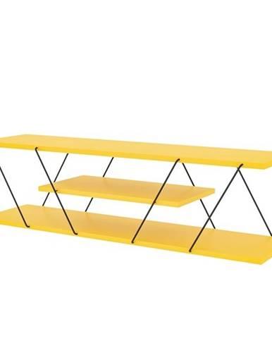 TV stolík CANAZ žltá/čierna