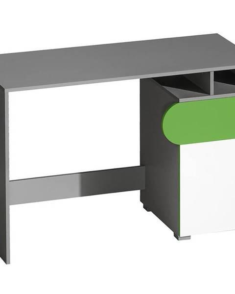 MERKURY MARKET Písací stôl Futuro F8 Zelená/Biely/Grafit