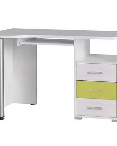 Písací stôl 11 jasan werona/akvamarin