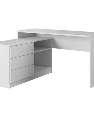 Písací stôl Teo biela