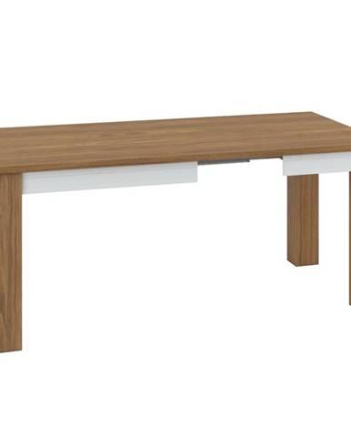 Jedálenský stôl 101-181 Dallas 1501 Orech/Biely lesk/Biely