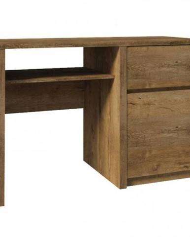 Písací stôl Montana B1 tmavý dub lefkas