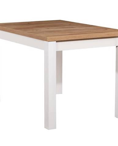 Stôl ST30 120X80 dub wotan/biely