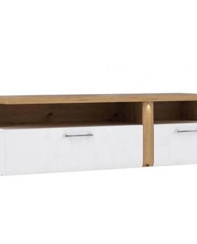 TV stolík Tuluza TUZT121B biela/artisan