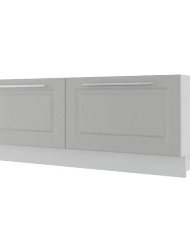 Kuchynská skrinka Emporium D2E/120 light grey stone/biela