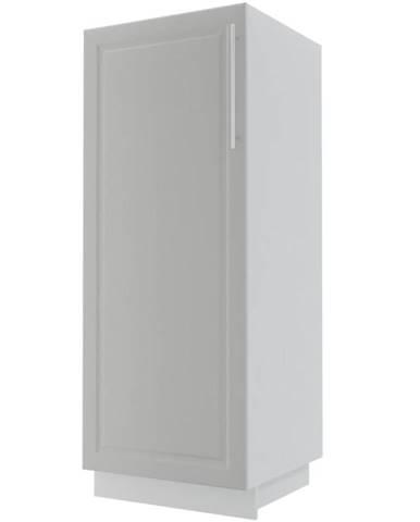 Kuchynská skrinka Emporium D5D/60/154 light grey stone/biela