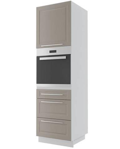 Kuchynská skrinka Emporium d14ru/3e grey stone/kor.biela