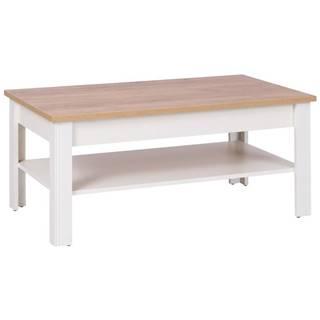 Konferenčný stolík 16 crem/dub zlatá