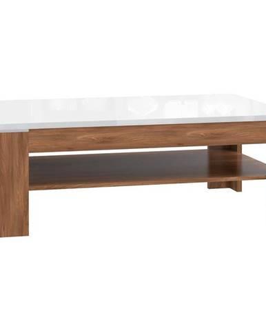 Konferenčný stolík SAINT TROPEZ dub sangallo/biela lesk