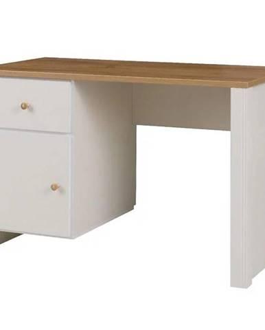 Písací stôl  Berg 6 crem/dub zlatá