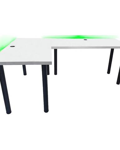 Písací Stôl Pre Hráča Narożne 136x66x28 Model 2 Biely Low