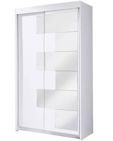 Skriňa  Szach 120 cm biela
