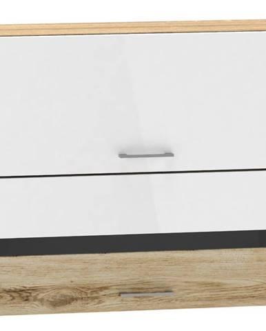 Kuchynská skrinka MOCCA WS60 GR F/2 SP macate/biely lesk BB