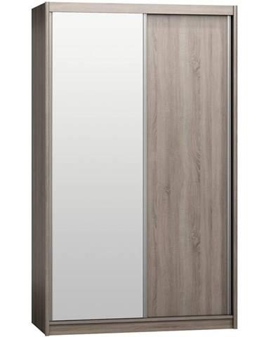 Skriňa Karol 143 s zrkadlom hľuzový dub
