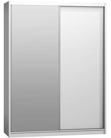 Skriňa Maciej 180 zrkadlo biela