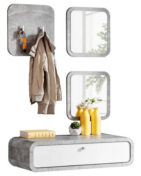 MERKURY MARKET Predsieňový nábytok Wally II atelier/biely