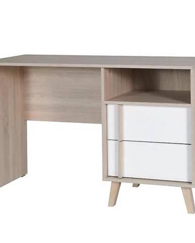 Písací stolík Malmo 60 dub sonoma/biely alpská