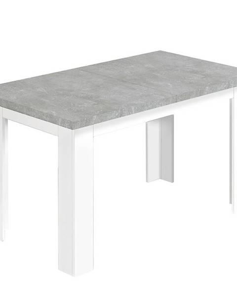 MERKURY MARKET Jedálenský stôl Ken 140x80 beton/biela