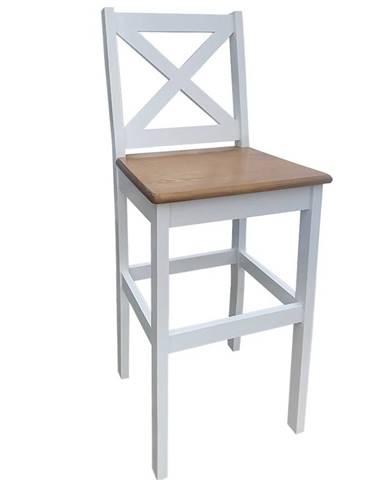 Barová stolička biela + dub