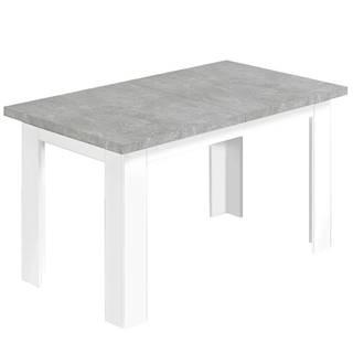 Jedálenský stôl Ken 140x80 beton/biela