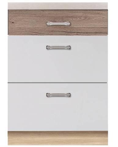 Skrinka do kuchyne Econo 10D Sonoma/Biely/San Remo
