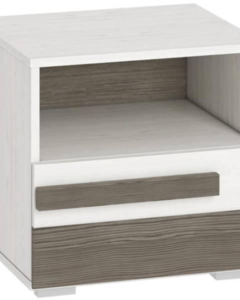 MERKURY MARKET Nočný stolík Blanco 18 46 borovica snežná/new grey