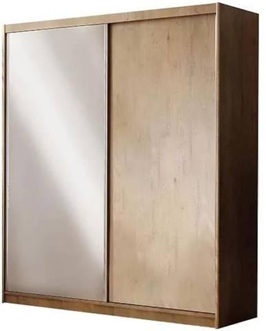 Skriňa Maciej zrkadlo 208 cm dub lefkas