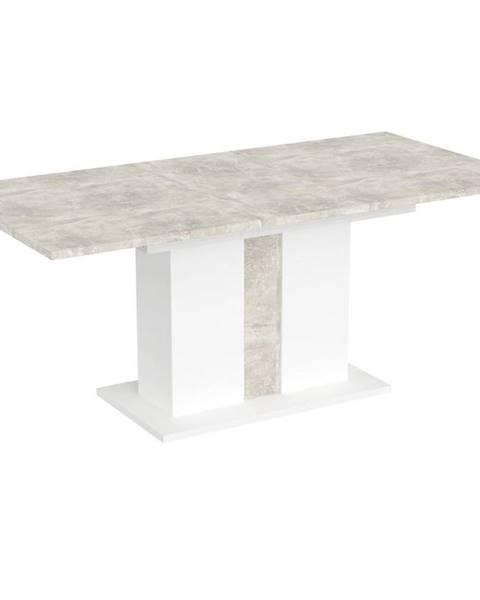 MERKURY MARKET Stôl Grays Beton/Bela