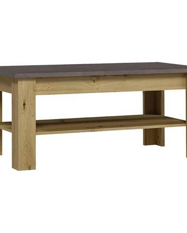 Konferenčný stolík XL St Dub Artisan/Smooth Grey