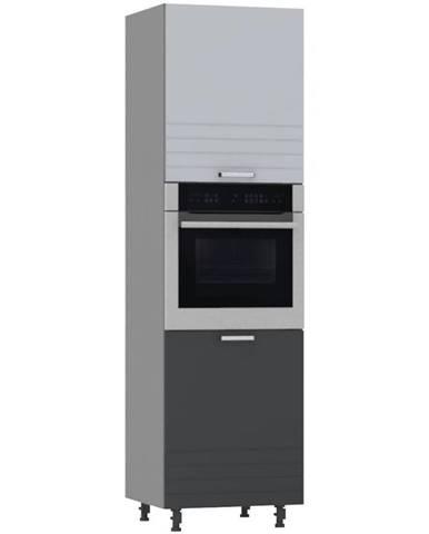 Kuchynská skrinka PAULA šedá D60PK/ L/2133 BB