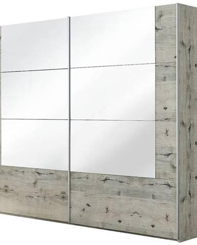 Skriňa Talin 250 dub wellington/zrkadlo