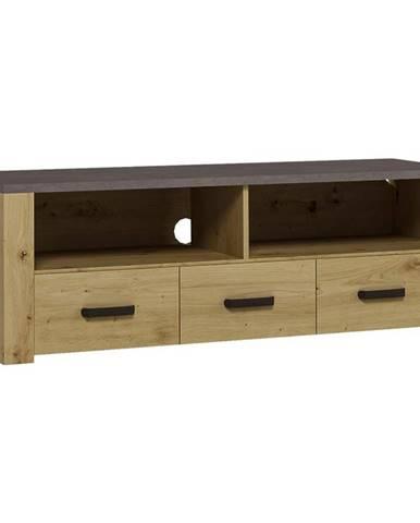 TV stolík XL  Dub Artisan/Smooth Grey