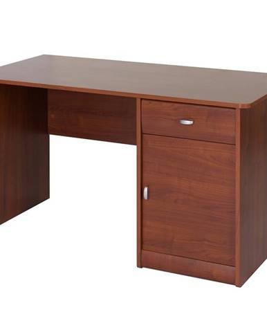 Písací stôl 1D1S Dover 40 višňa primavera