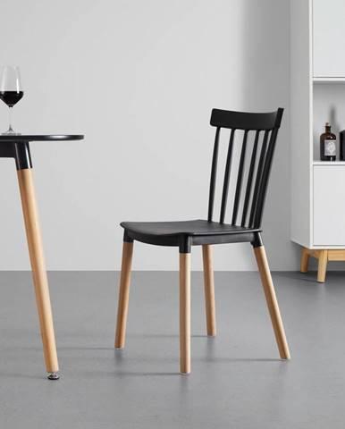 stolička Celine s Drevenými Nohami