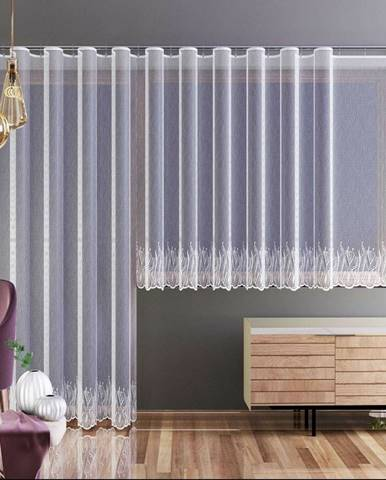 Forbyt Záclona Nela biela, 250 x 120 cm
