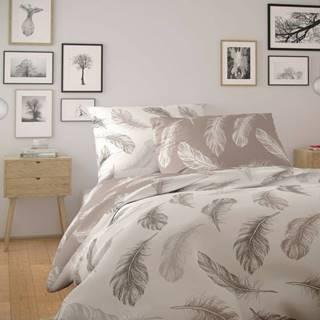 Kvalitex Bavlnené obliečky Nordic Shelby béžová, 140 x 200 cm, 70 x 90 cm