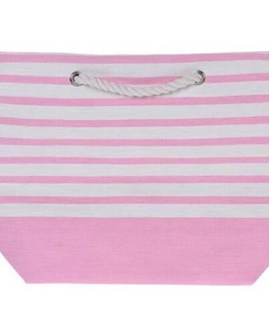 Plážová taška Stripes 52 x 38 cm, ružová