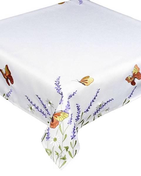 Kvalitex Forbyt Obrus Motýle a levanduľa, 35 x 35 cm