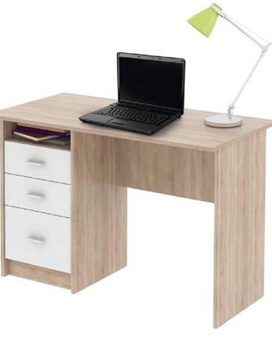 PC stôl dub sonoma/biela SAMSON NEW