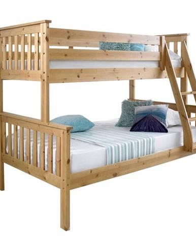 Poschodová rozložiteľná posteľ prírodná borovica LUINI