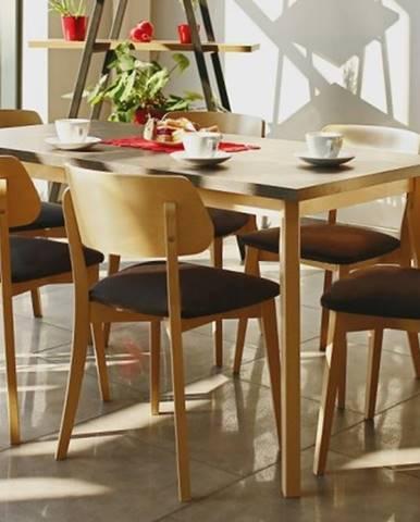 Jedálenský set Ombo-6x stolička, 1x rozkladací stôl
