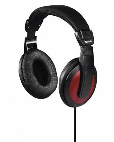 Slúchadlá cez hlavu Hama Basic4Music, čierno-červené