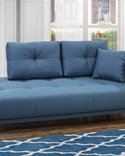 OKAY nábytok Leňoška Bony s úložným priestorom, pravá strana, modrá