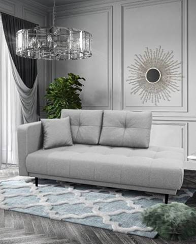 Leňoška Bony s úložným priestorom, ľavá strana, sivá