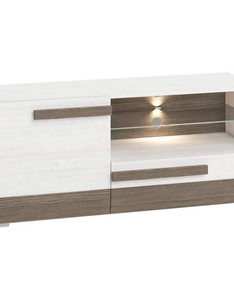 MERKURY MARKET TV stolík Blanco 10 128 borovica snežná/new grey